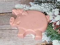 Вес 220 г. Подарочное мыло кабанчик розового цвета. Смешной сюрприз к празднику.