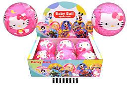 "Мяч обтянутый тканью с рисунком ""Hello Kitty"" диам. 15см. /6/72/"