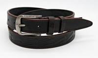 Кожаный ремень 35 мм коричневый