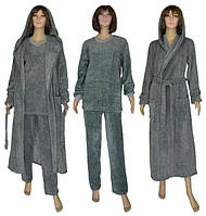 NEW! Подарочные наборы для женщин - махровая пижама и махровый халат серии Grafite Melange ТМ УКРТРИКОТАЖ!