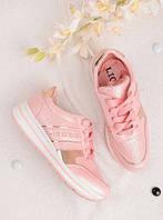 Розовые кроссовки женские с надписью Sport 25836, фото 1