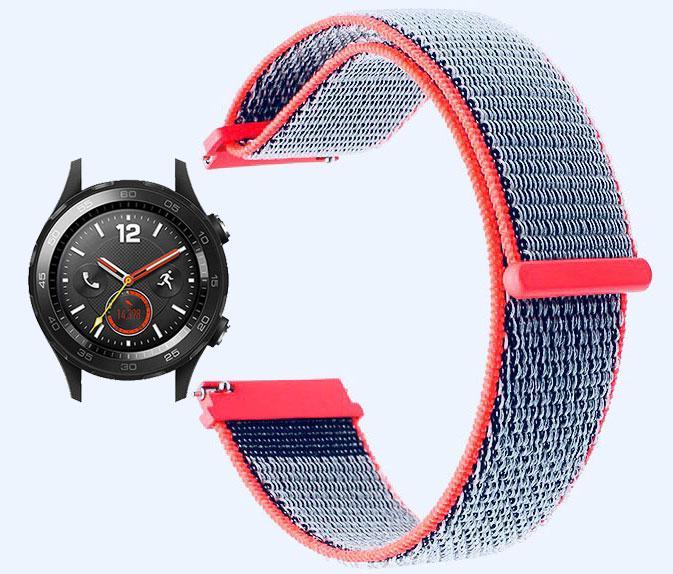 Нейлоновый ремешок для часов Huawei Watch 2 - Neon Red