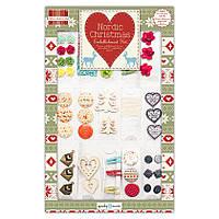 Набор декоративных элементов Новогодних Nordic Christmas, First Edition FEXEMB01 , фото 1