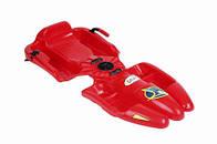 Санки с рулем GALAXY красные 03918
