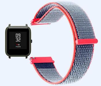 Нейлоновый ремешок Primo для часов Xiaomi Amazfit Bip / Amazfit Bip GTS / Amazfit Bip Lite - Neon Red