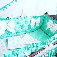 Бортики-защита в кроватку на 4 стороны