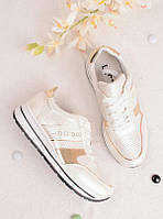 Белые кроссовки женские с надписью Sport 25835, фото 1