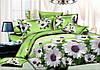 Двуспальный комплект постельного белья евро 200*220 хлопок  (10136) TM KRISPOL Украина
