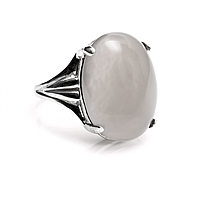 Агат халцедон, 20*15 мм., серебро 925, кольцо, 904КХ