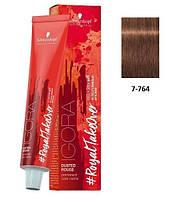 Краска для волос 7-764 Schwarzkopf Igora Royal средне-русый медный шоколадно-бежевый 60 мл, фото 1