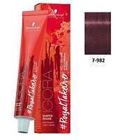 Краска для волос 7-982 Schwarzkopf Igora Royal средне-русый фиолетовый красно-пепельный 60 мл, фото 1