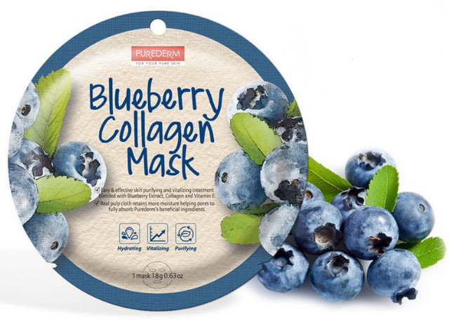 PUREDERM Collagen Circle Mask Blueberry Collagen