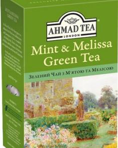Чай Зеленый с Мятой и Мелиссой AHMAD 75 гр