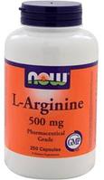 Аргинин, NOW Foods, L-Arginine, 500mg 250 caps