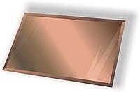 Зеркальная плитка НСК прямоугольник 500х550 мм фацет 10 мм бронза, фото 1