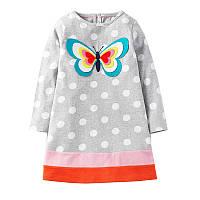 Дитяче трикотажне плаття туніка Метелик на 3-6 років