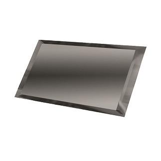 Зеркальная плитка НСК прямоугольник 400х550 мм фацет 10 мм графит, фото 1