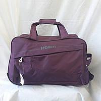 Фиолетовая сумка на колесах 60 см, фото 1