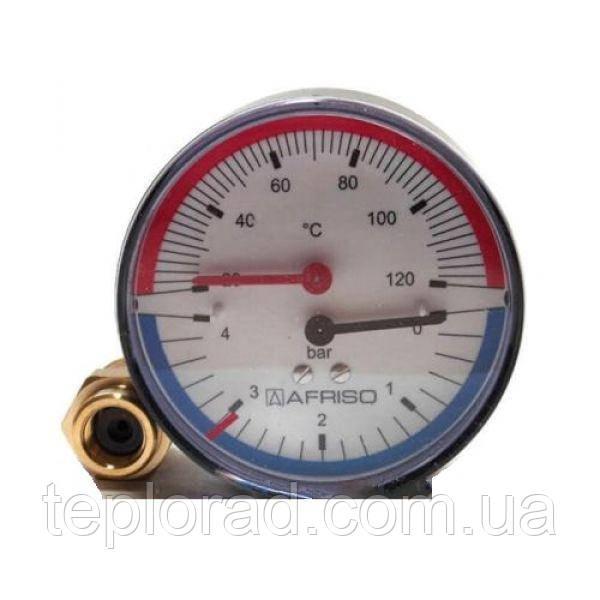 Термоманометр аксиальный Afriso ТМ 80 1/2 0-6 бар