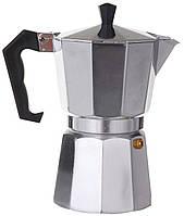Кофеварка гейзерная, А-Плюс, на 9 чашек алюминий, фото 1