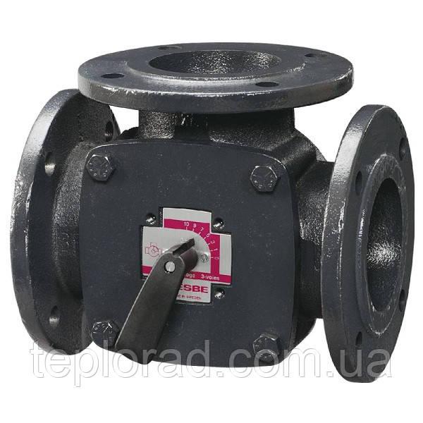 Поворотный смесительный 3-ходовой клапан ESBE F DN65 kvs 90