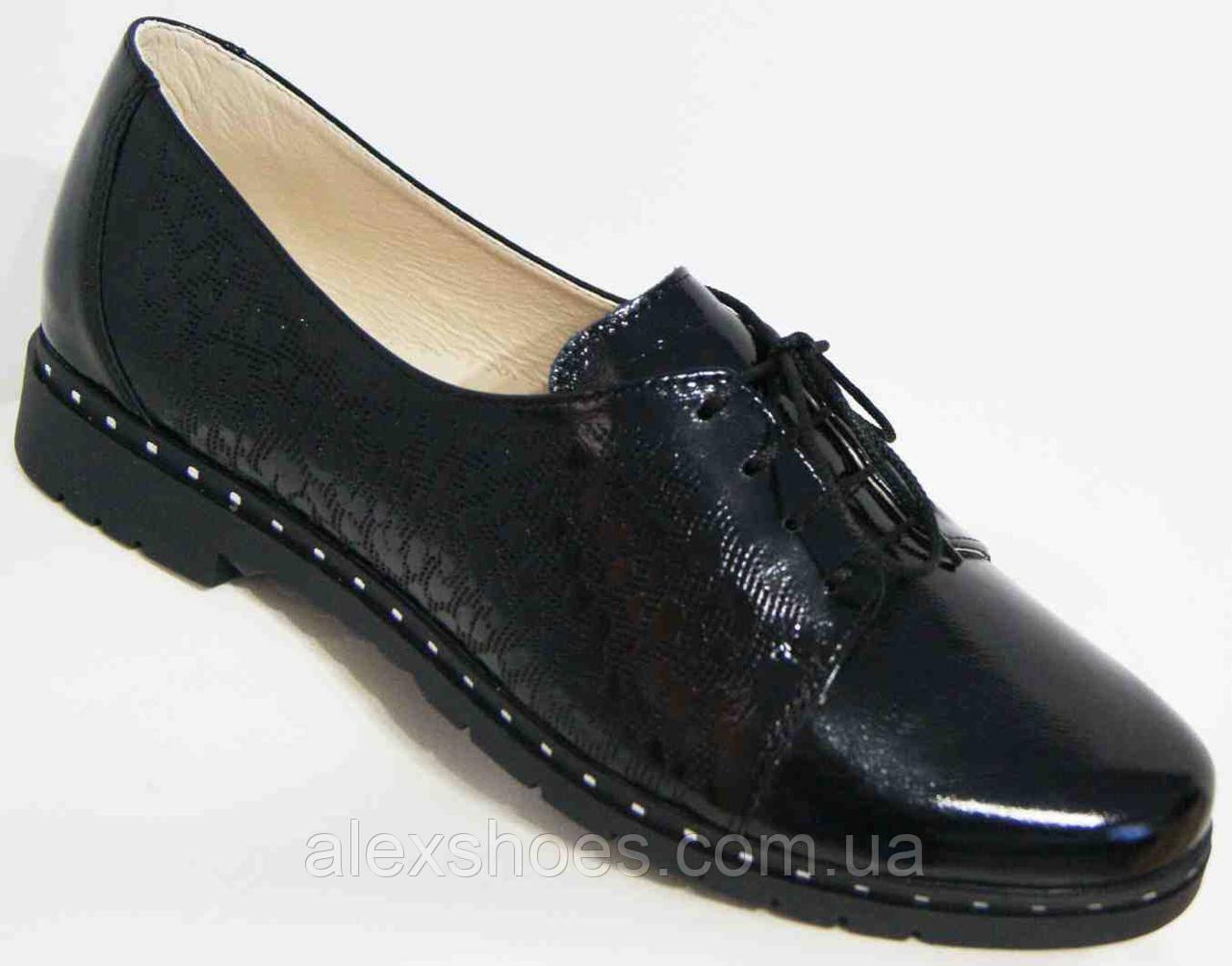 Туфли женские большого размера из натуральной кожи от производителя модель В3544-22