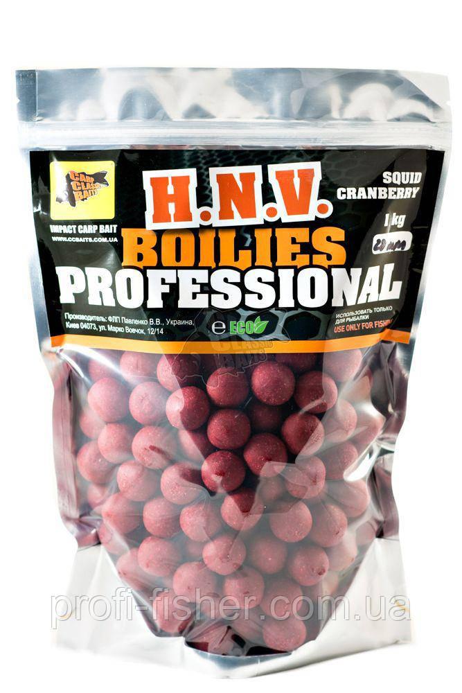 Пылящие Бойлы Professional Soluble Squid-Cranberry, 20мм, 1кг