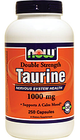 Таурин, Now Foods, Taurine, 1000mg, 250caps