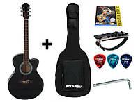 Гитара акустическая IRIN AG-04BK (Чехол+Копилка+Струна+Медиатор + Ключ)