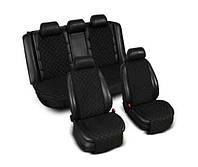Комплект накидок на сиденья автомобиля — черные (4 шт)