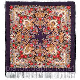 Серенада 11-15, павлопосадский платок шерстяной с шелковой бахромой