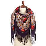 Серенада 11-15, павлопосадский платок шерстяной с шелковой бахромой, фото 2