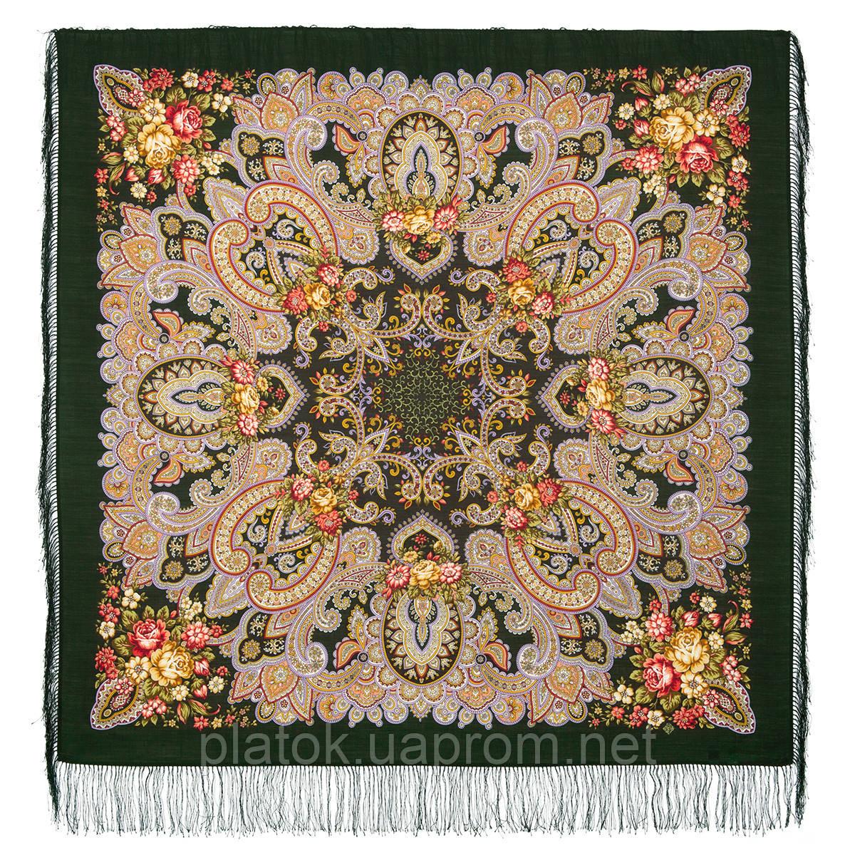 Прекрасное мгновенье 1802-10, павлопосадский платок шерстяной с шелковой бахромой