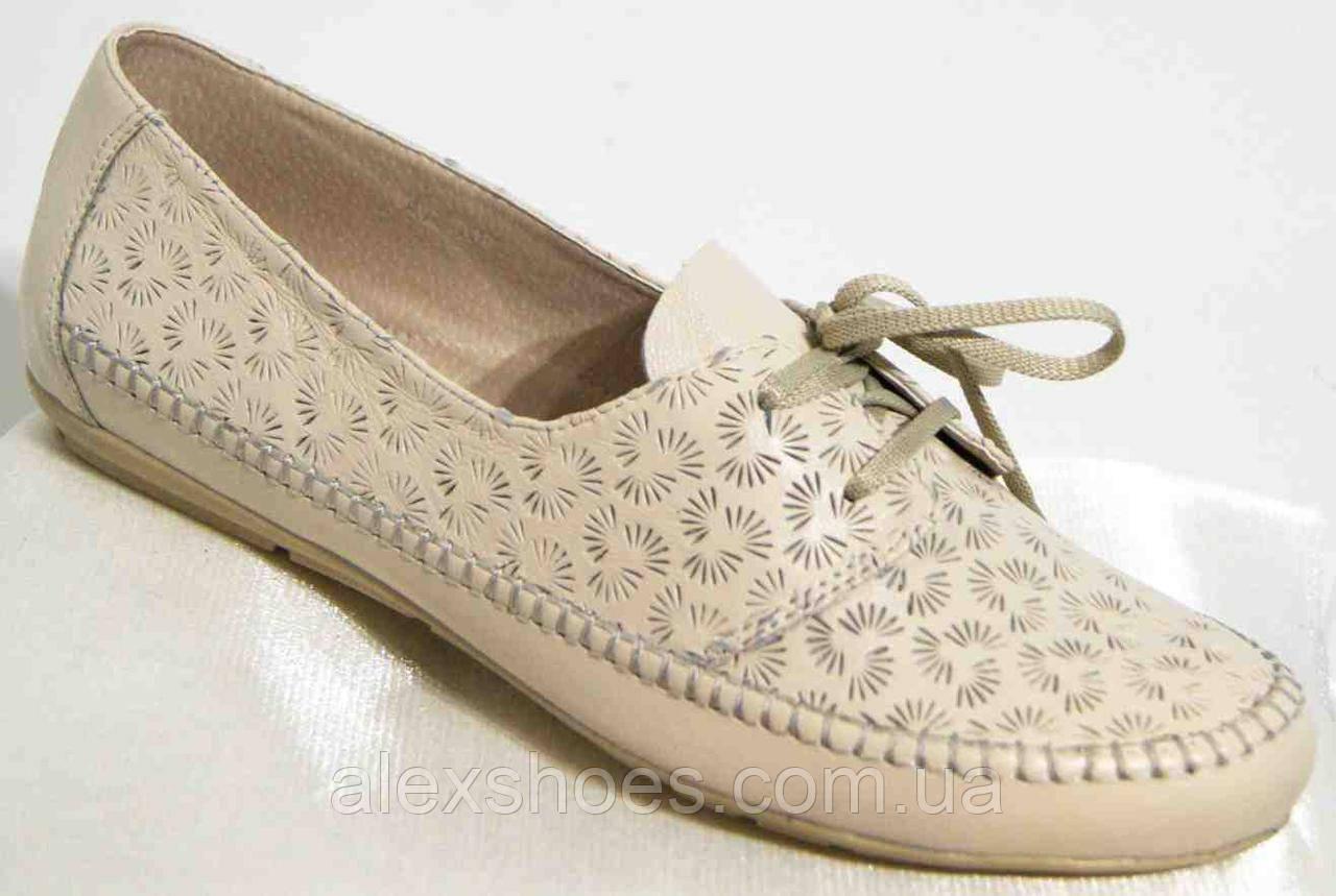 Туфли женские большого размера из натуральной кожи от производителя модель В4065-15