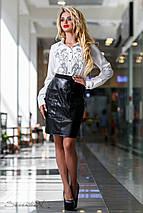 Женская белая блуза с вышивкой спереди (2303 svt), фото 2