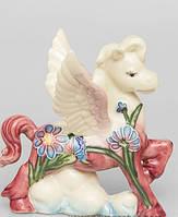 Фарфоровая статуэтка Лошадка Ангелочек Pavone JP-61/33