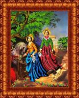 Рисунок на ткани для вышивки бисером Две сестры. Репродукция картины К. Брюллова