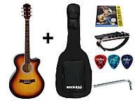 Гитара акустическая IRIN AG-04SB (Чехол+Каподастр+Струна+Медиатор + Ключ)