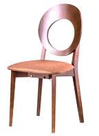 Деревянный стул C-615 Космо дизайнерская мебель, цвет яблоня темная, Заказ от 2 штук
