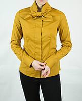 Женская рубашка горчичного цвета SERPIL Турция 15044