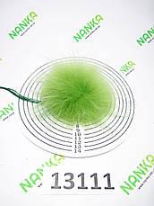 Меховой помпон Енот, Салатовый, 9 см, 13111, фото 2