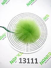 Меховой помпон Енот, Салатовый, 9 см, 13111, фото 3
