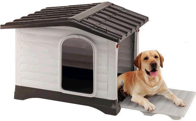 Ferplast DOGVILLA 90 Будка для собак с  системой открывания боковой панели