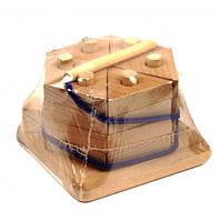 "Пирамидка ""Тортик"", неокрашенная Д025н"