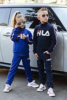 """Спортивний костюм """"FILA"""", для хлопчика і дівчинки,турецька двох нитка, фото 1"""