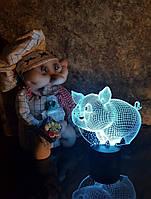 """Детский ночник - светильник """"Свинка"""" 3DTOYSLAMP, фото 1"""