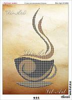 Схема вышивки бисером на габардине Аромат кави