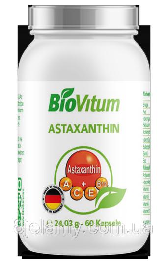 Антиоксидант Astaxanthin BioVitum 60 caps 10 мг Германия