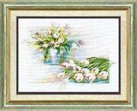 Набор для вышивки крестом Белые тюльпаны