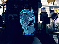 "3D нічник ""Джокер/Бетмен"" 3DTOYSLAMP, фото 1"